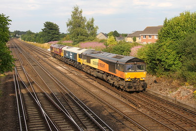 66847 Worting Junction 19/07/18 0Y42 Hoo Junction to Eastleigh with 66789 and 66138