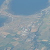 Ronaldsway Isle of Man Airport seen from American Airlines flight AA99 from London Heathrow to Chicago, 29.06.2018.