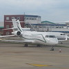 Unidentified Bombardier Global Express business jet at London Luton Airport, 13.06.2018.