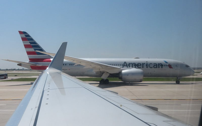 American Airlines Boeing 787 Dreamliner N806AA at Chicago O'Haire, 29.06.2018.