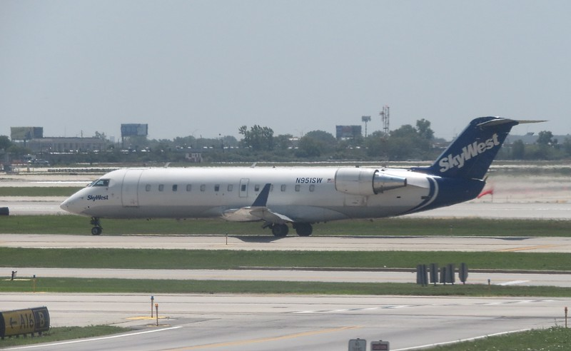 SkyWest Airlines Bombardier CRJ-200 N951SW at Chicago O'Haire Airport, 29.06.2018.