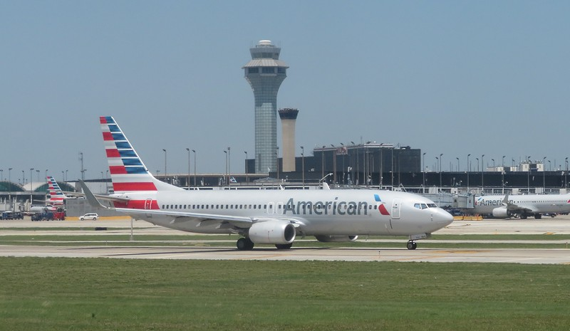 American Airlines Boeing 737-800 at Chicago O'Haire, 29.06.2018.