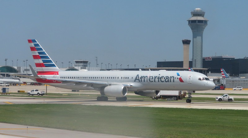 American Airlines Boeing 757-200 N197AN at Chicago O'Haire, 29.06.2018.