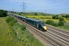 6 June 2018 :: IET 800 028 speeds past Duffryn working 1B40, the 1345 Paddington to Swansea