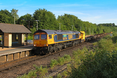 66754 Micheldever 24/06/18 6G12 Voltaire Road Junction to Eastleigh East Yard with 66744 on the rear