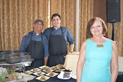 Ray Joseph, Nick Morris and Michelle Pollina of San Jose Country Club