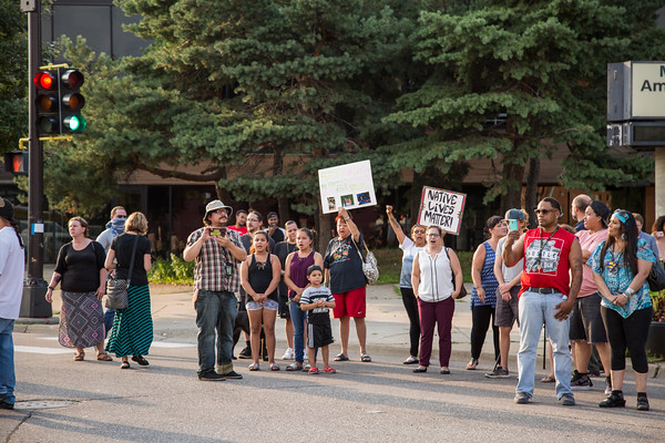 Jusice for Billy Hughes Vigil, Minneapolis, August 6 2018