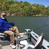 DENNIS BREUCKMAN, DOUG'S PARTNER, ON DAY ONE KENTUCKY LAKE