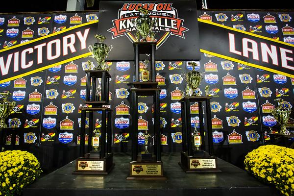 Knoxville Raceway victory lane