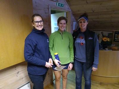 Ellen, Karen og rotrener Kerry Hassall fra Tusla Universitetet i Stavanger Roklub i romjulen