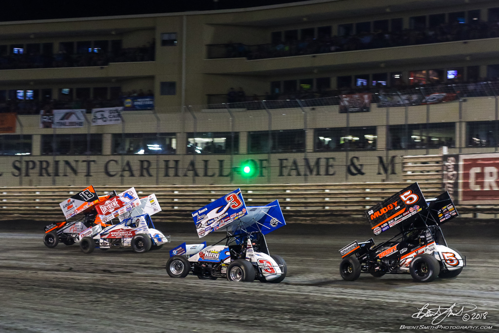 58th Annual 5-hour ENERGY Knoxville Nationals presented by Casey's General Stores - Knoxville Raceway - 18 Ian Madsen, 1S Logan Schuchart, 3 Tim Kaeding, 5 David Gravel