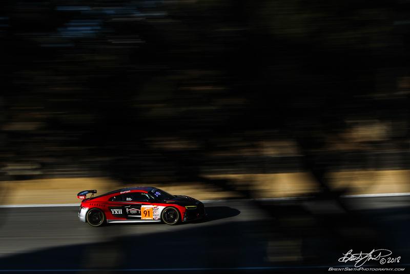 California 8 Hours - Intercontinental GT Challenge - Mazda Raceway Laguna Seca - 91 Rearden Racing Audi R8 GT4, Jeff Burton, Jessica Burton, James Burke