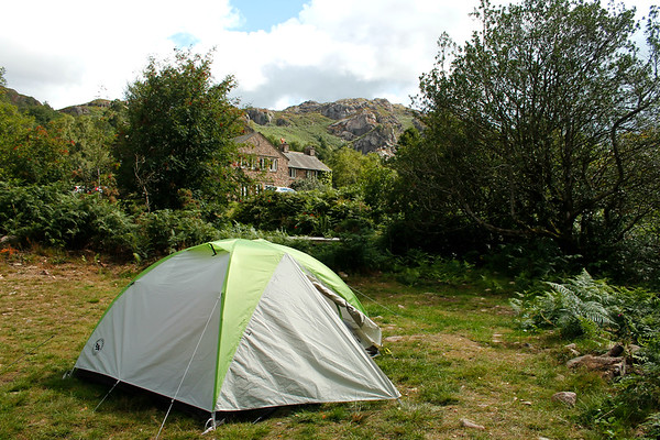 ... you could find our tent, pitched at YHA Eskdale.