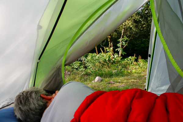 relaxing views from the tent:-)