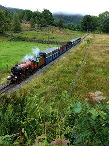 steam train from Dalegarth to Ravenglass
