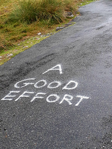 somebody had left a number of comments along the route - this was the final one at the top:-)