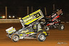 PA Sprint Car Speedweek - Lincoln Speedway - 27 Greg Hodnett, 55K Robbie Kendall