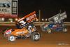 PA Sprint Car Speedweek - Lincoln Speedway - 3Z Brock Zearfoss, 87 Alan Krimes