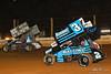 PA Sprint Car Speedweek - Lincoln Speedway - 87 Alan Krimes, 3 James McFadden