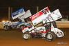PA Sprint Car Speedweek - Lincoln Speedway - 59 Jim Siegel, 57 Kyle Larson