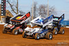 Lincoln Speedway - 59 Jim Siegel, 88 Brandon Rahmer, 2W Glenndon Forsythe