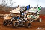 dirt track racing image - Lincoln Speedway - 17b Bill Balog, 19 Landon Myers