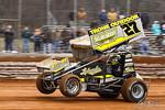 dirt track racing image - Lincoln Speedway - 27 Greg Hodnett