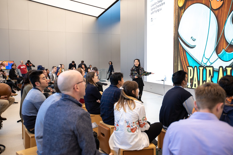Live Art: Design Iconic Characters with @YiyingLu Co-Create @Apple UnionSqaure