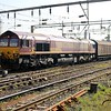 66129 0924/6m45 Dollands Moor-Daventry passes Willesden Jct on the water train