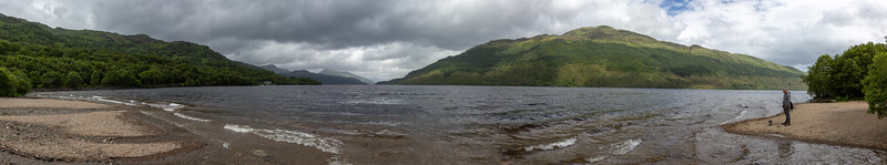Loch Lomond panorama, Ben Lomond to the right