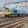 66623 passes Willesden Junction 1413/6E84 Stewarts Lane-Barrow Hill sidings   31/03/18
