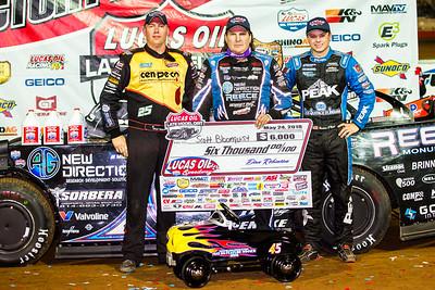 Chad Simpson (L), Scott Bloomquist (C) and Hudson O'Neal (R)