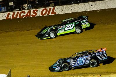 Jimmy Owens (20) and Scott Bloomquist (0)