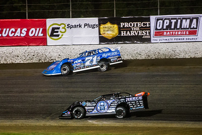 Hudson O'Neal (71) and Scott Bloomquist (0)