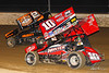 Sprint Car World Championship- Mansfield Motor Speedway - 10H Chad Kemenah, 2M Kerry Madsen