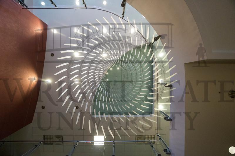 Millett Hall Sculpture, Campus Artwork, Round Dance, 3-2-18