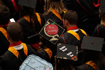 Gardner-Webb University Spring 2018 Commencement in Paul Porter Arena on May 12, 2018.