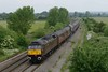 31 May 2018 :: 47804 is seen at Didcot North Junction leading 1Z86 from Doncaster to Swanage