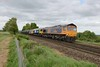 9 May 2018 :: 66736 + 66789 + 73136 are seen at Weston with 6O65 from Peterborough to Eastleigh