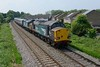 26 May 2018 :: 37069 + 37259 had worked a railtour from Huddersfield to Salisbury and then taken the empty stock onto Eastleigh for servicing and are seen on the Chandlers Ford branch north of Eastleigh with 5Z53