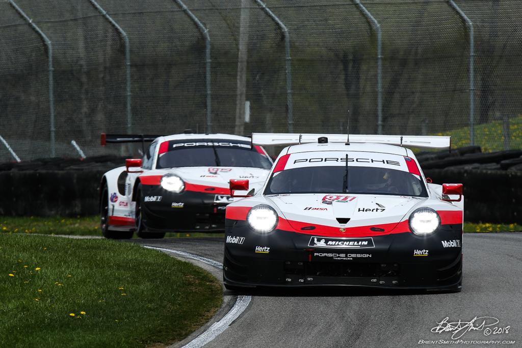 Acura Sports Car Challenge - IMSA WeatherTech SportsCar Championship - Mid-Ohio Sports Car Course - 911 Porsche GT Team, Porsche 911 RSR, Patrick Pilet, Nick Tandy, 912 Porsche GT Team, Porsche 911 RSR, Laurens Vanthoor, Earl Bamber