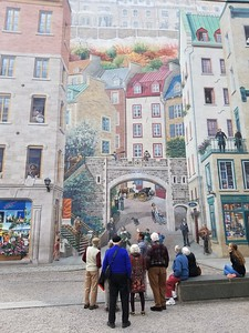 Fresque des Québécois, Old Town Quebec - Cathy Phillips