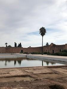 Reflection pool at the Badi Palace