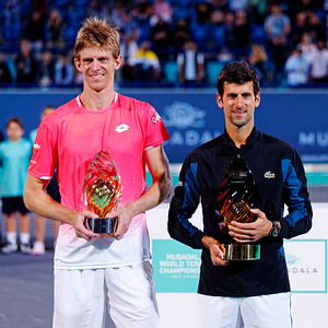 01.04a Finalists Kevin Anderson and Novak Djokovic - Mubadala WTC 2018