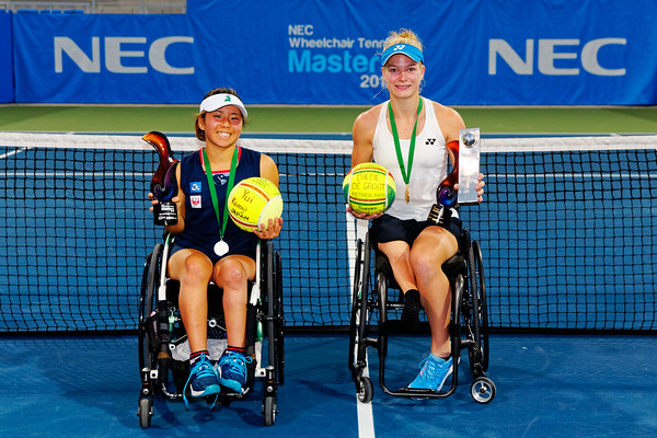 04 Yui Kamiji and Diede de Groot finalists - NEC Wheelchair Tennis Masters 2018