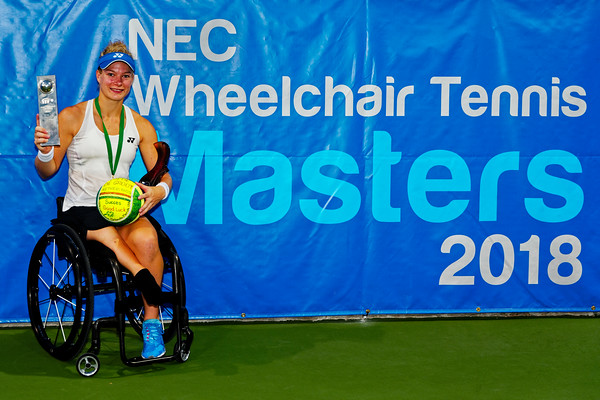 04a Diede de Groot winner - NEC Wheelchair Tennis Masters 2018