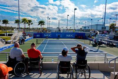 06 Watching the match - NEC Wheelchair Tennis Masters 2018