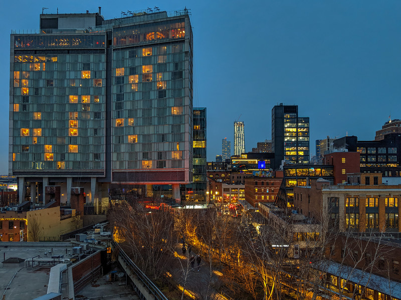 High Line in the evening, from the Whitney