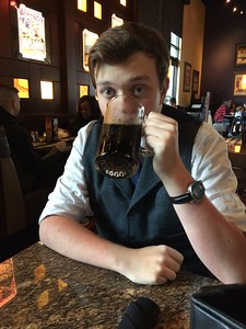 Hand crafted root beer and BJ's for his birthday dinner
