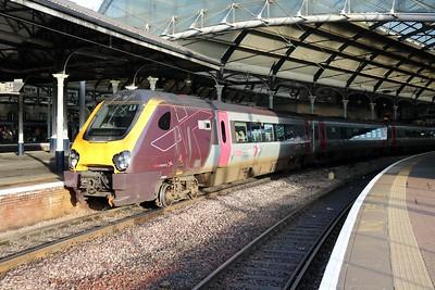 220034 1247/1V60 Edinburgh-Penzance at Newcastle   27/12/18